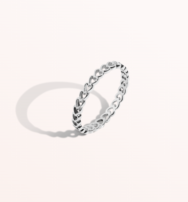 Aurate Infinity Heart Ring
