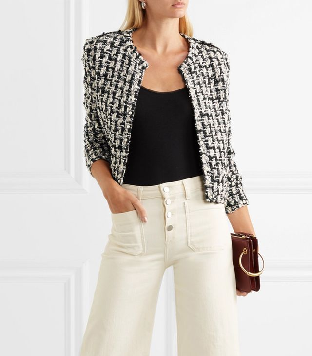 Iro Gonna Faux Pearl-Embellished Tweed Jacket