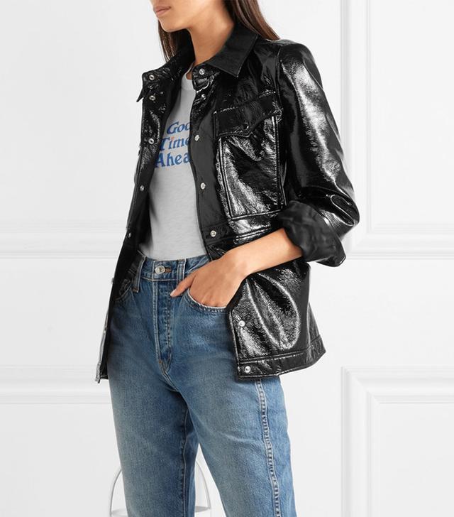 AlexaChung Vinyl Jacket