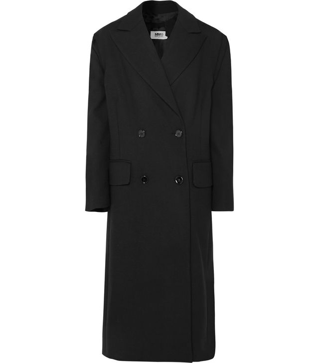 MM6 Maison Margiela Bow-Detailed Double-Breasted Cady Coat
