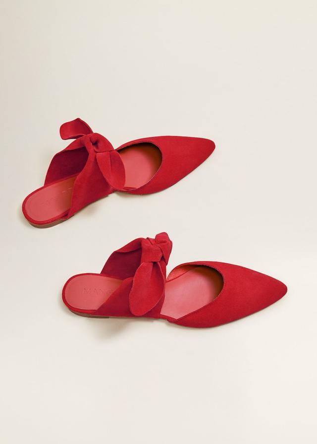Mango Bow Leather Shoes