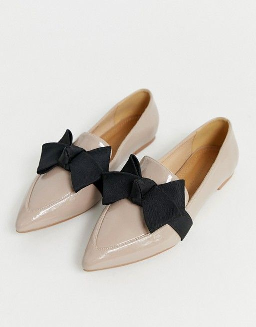 ASOS Ludo Bow Ballet Flat Loafers