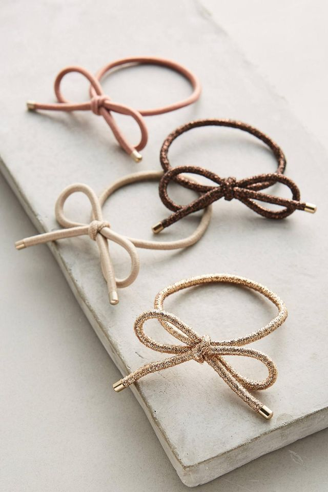 Anthropologie Bow Hair Tie Set