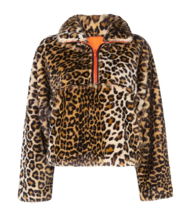 Sandy Liang Leopard Faux-Fur Jacket