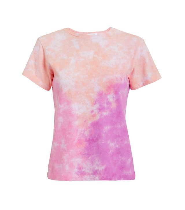 Re/Done Pink Tie-Dyed T-Shirt