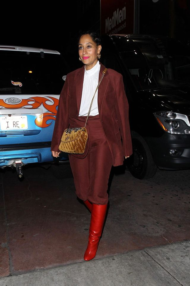 Celebrity Knee-High Boot Outfits: Tracee Ellis Ross