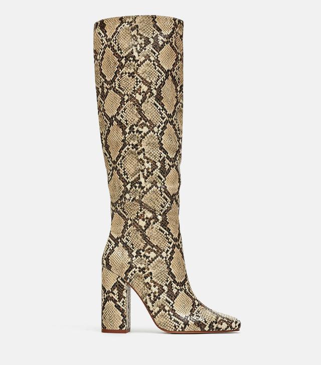 Zara Heeled Sneakeskin Boots
