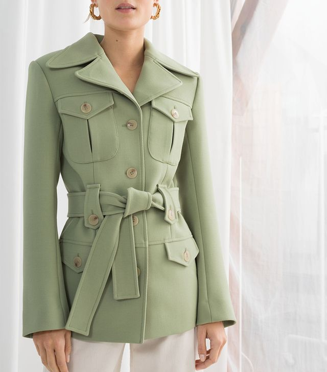 & Other Stories Structured Belted Workwear Jacket