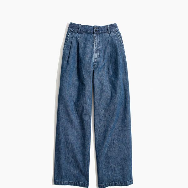 Madewell Pleated Wide-Leg Jeans