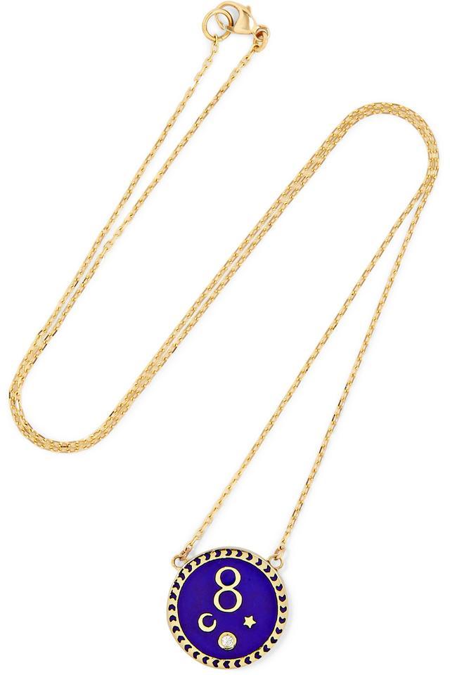 Foundrae Karma 18-Karat Gold Necklace