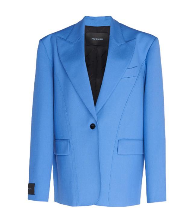 Mugler Oversized Wool Blazer Jacket