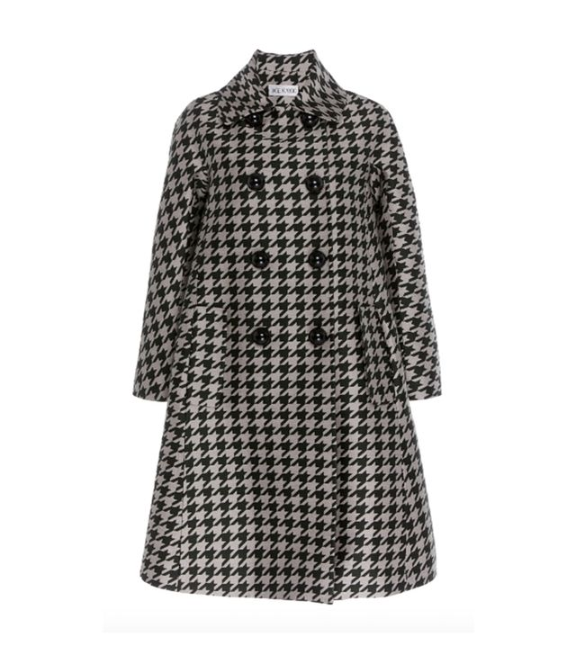 Dice Kayek Virgin Wool Houndstooth Double Breasted Peacoat