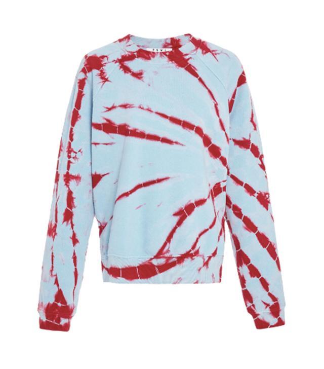 Proenza Schouler PSWL Tie-Dye Cotton-Jersey Sweatshirt