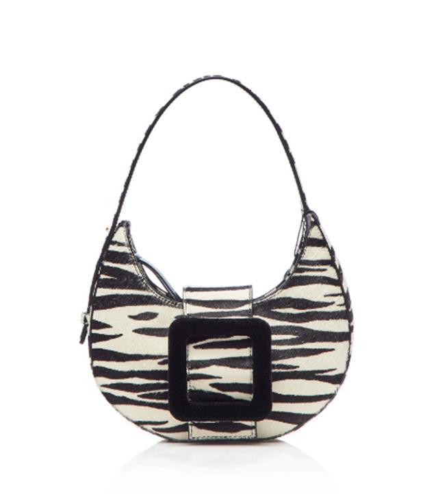 Les Petits Joueurs Cindy Buckle Haircalf Zebra Print Mini Hobo Bag