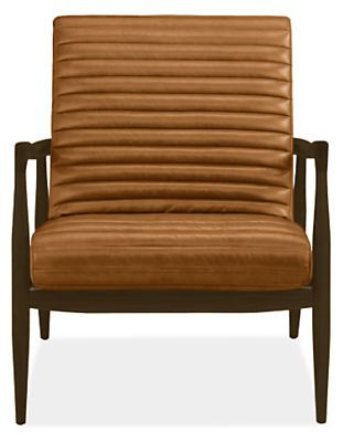 Room & Board Callan Leather Chair & Ottoman