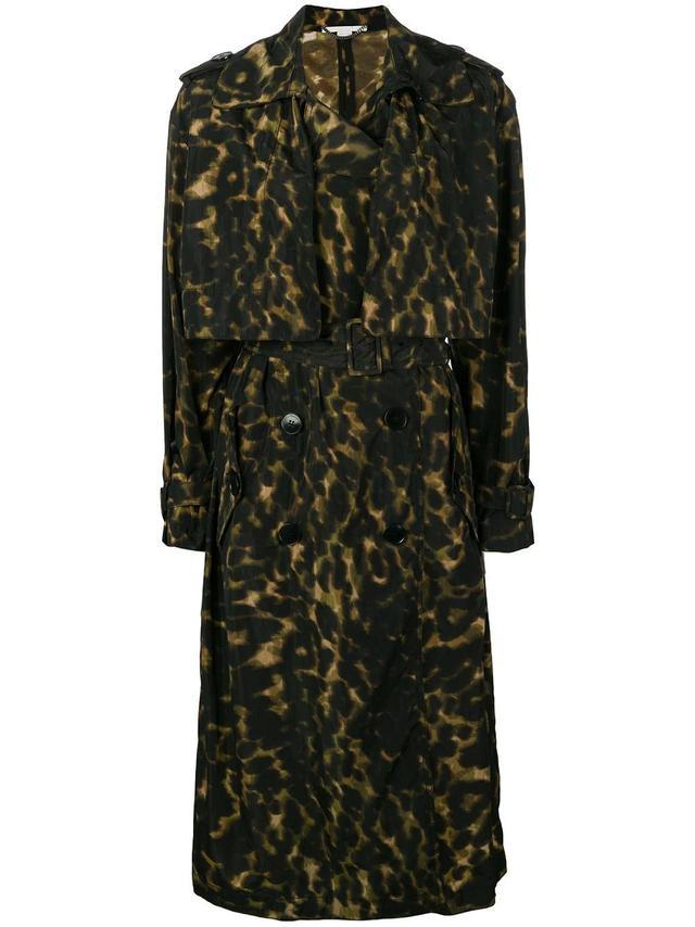 Stella McCartney leopard printed trench coat