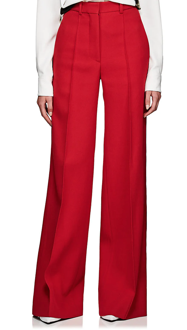 Victoria Beckham Virgin Wool Twill Flared Trousers