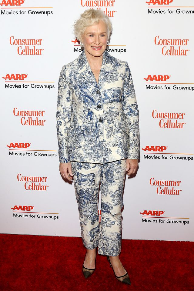 Glenn Close red carpet outfits