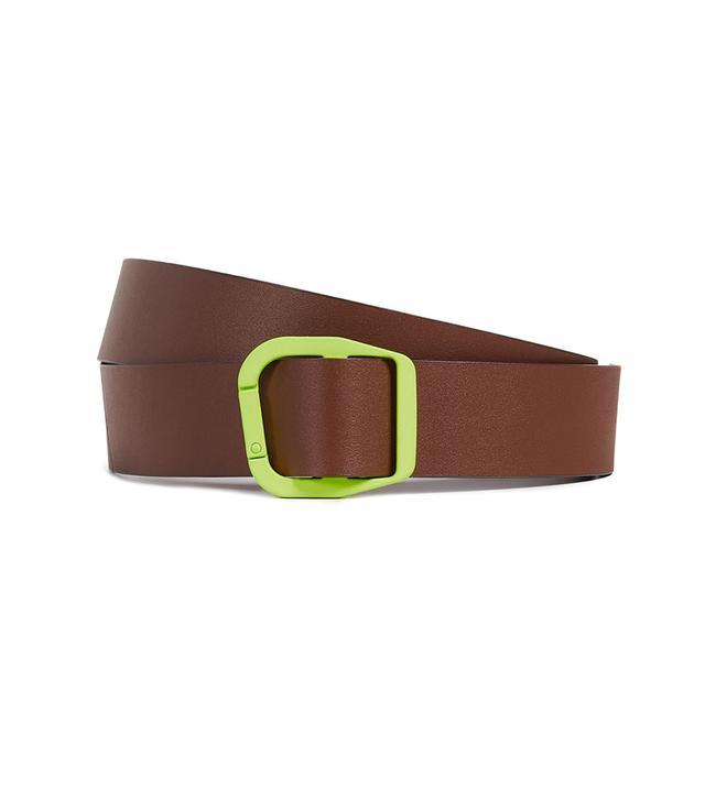 Tibi Carabiner Leather Belt