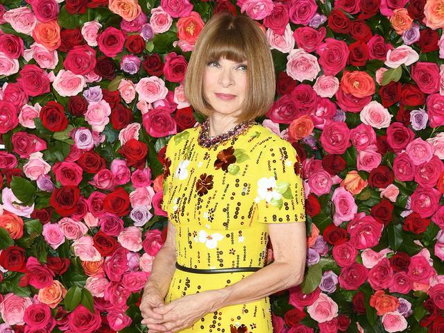 Anna Wintour yellow dress