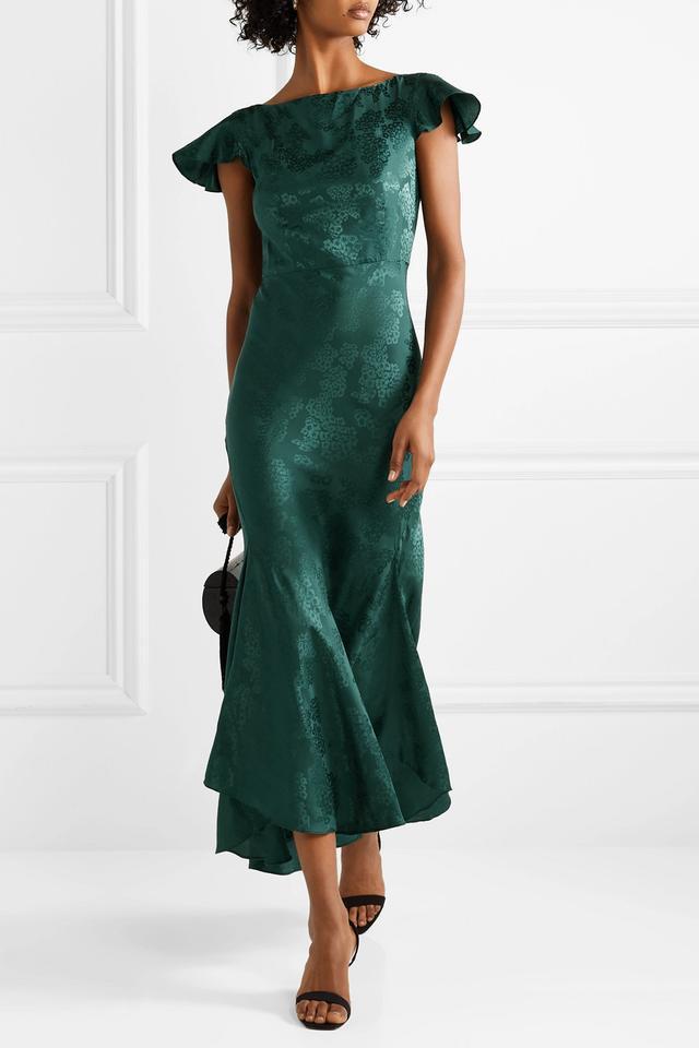 Saloni Daphne Silk-Jacquard Maxi Dress