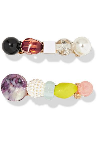 Valet Lulu Set of Two Resin Hairclips