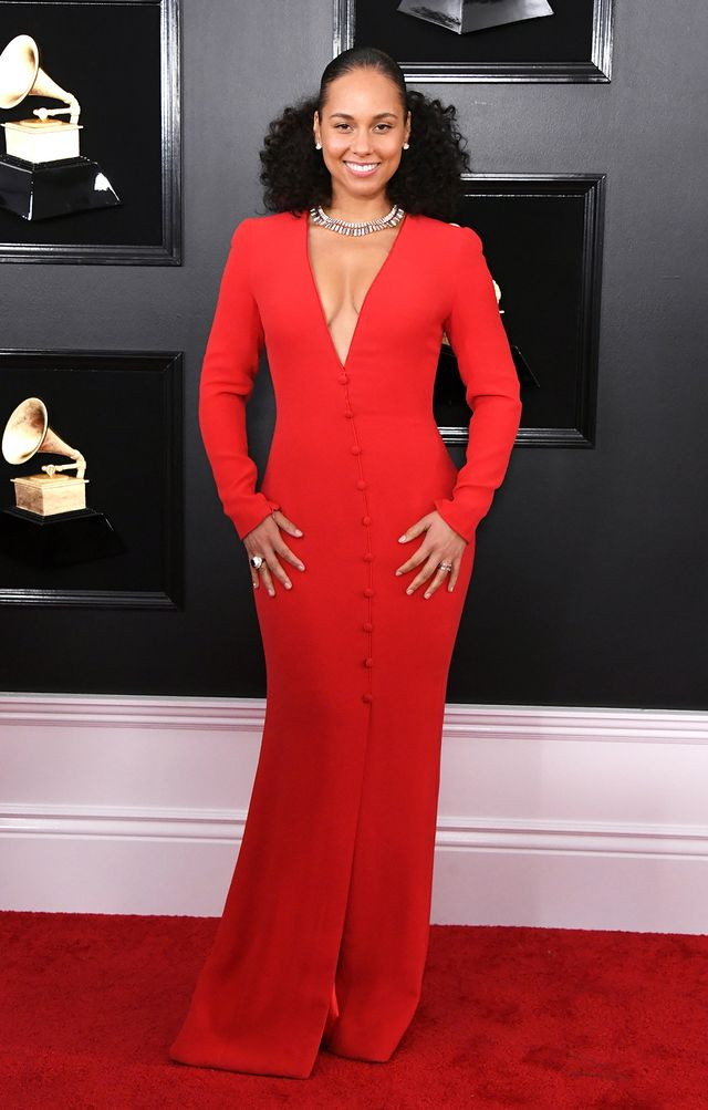 Alicia Keys on the Grammys Red Carpet 2019
