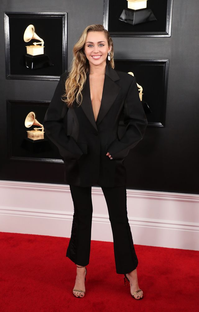 Miley Cyrus on the Grammys Red Carpet