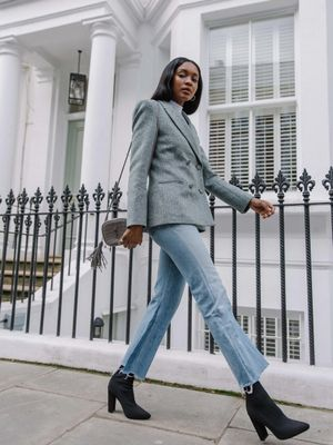 The It-Girl Way to Wear Jeans to the Office