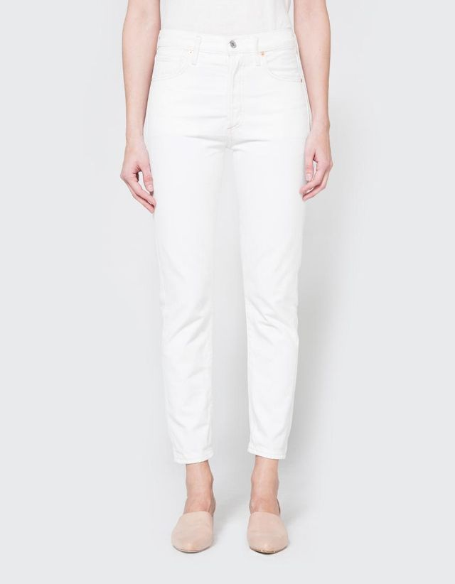 Citizens of Humanity Liya High Rise Classic Fit Jean in White Noise