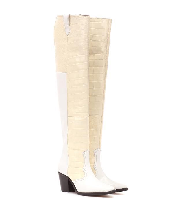 Ganni High Western Leather Cowboy Boots