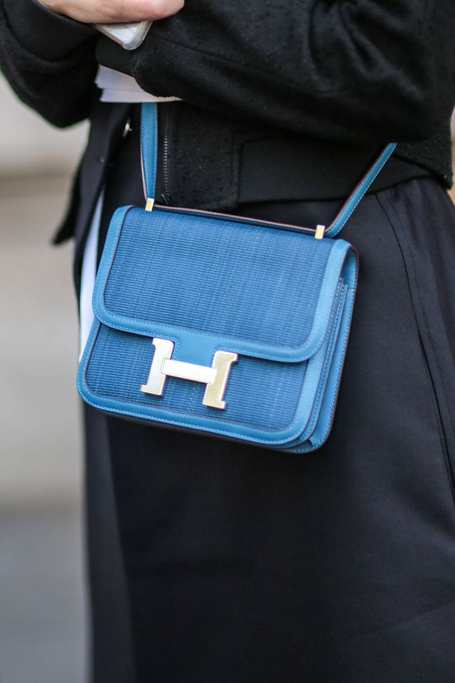 Hermès Constance bag blue