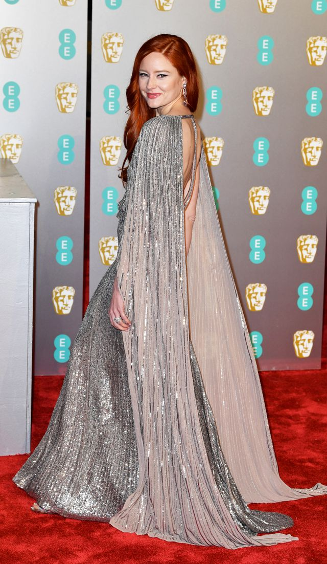 Baftas red carpet 2019: Barbara Maier in sequin gown