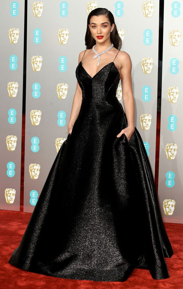 Baftas red carpet 2019: Amy Jackson black gown