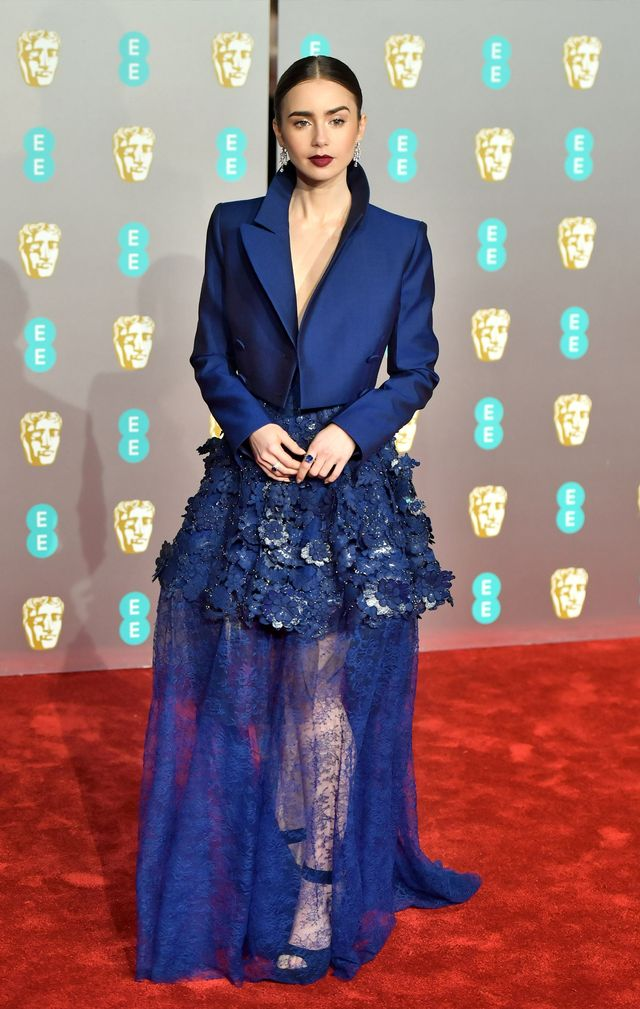 Baftas red carpet 2019: Lily Gollins gown and jacket