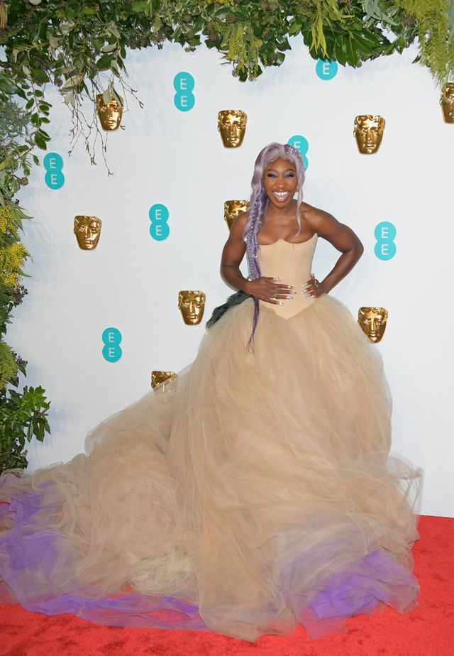 Baftas red carpet 2019: Cynthia Erivo in lilac and beige tulle gown