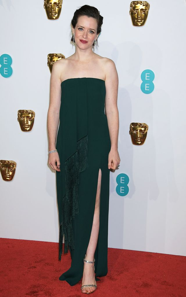 Baftas red carpet 2019: Claire Foy in green gown