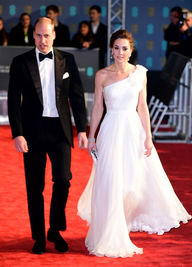 Baftas red carpet 2019: Duchess of Cambridge in white gown