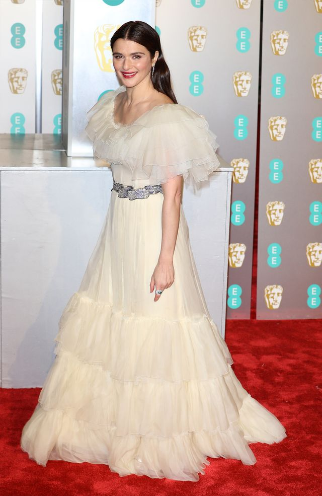 Baftas red carpet 2019: Rachel Weisz tulle pale yellow gown