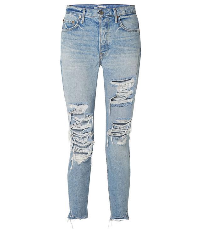 GRLFRND Carolina Distressed Skinny Jeans