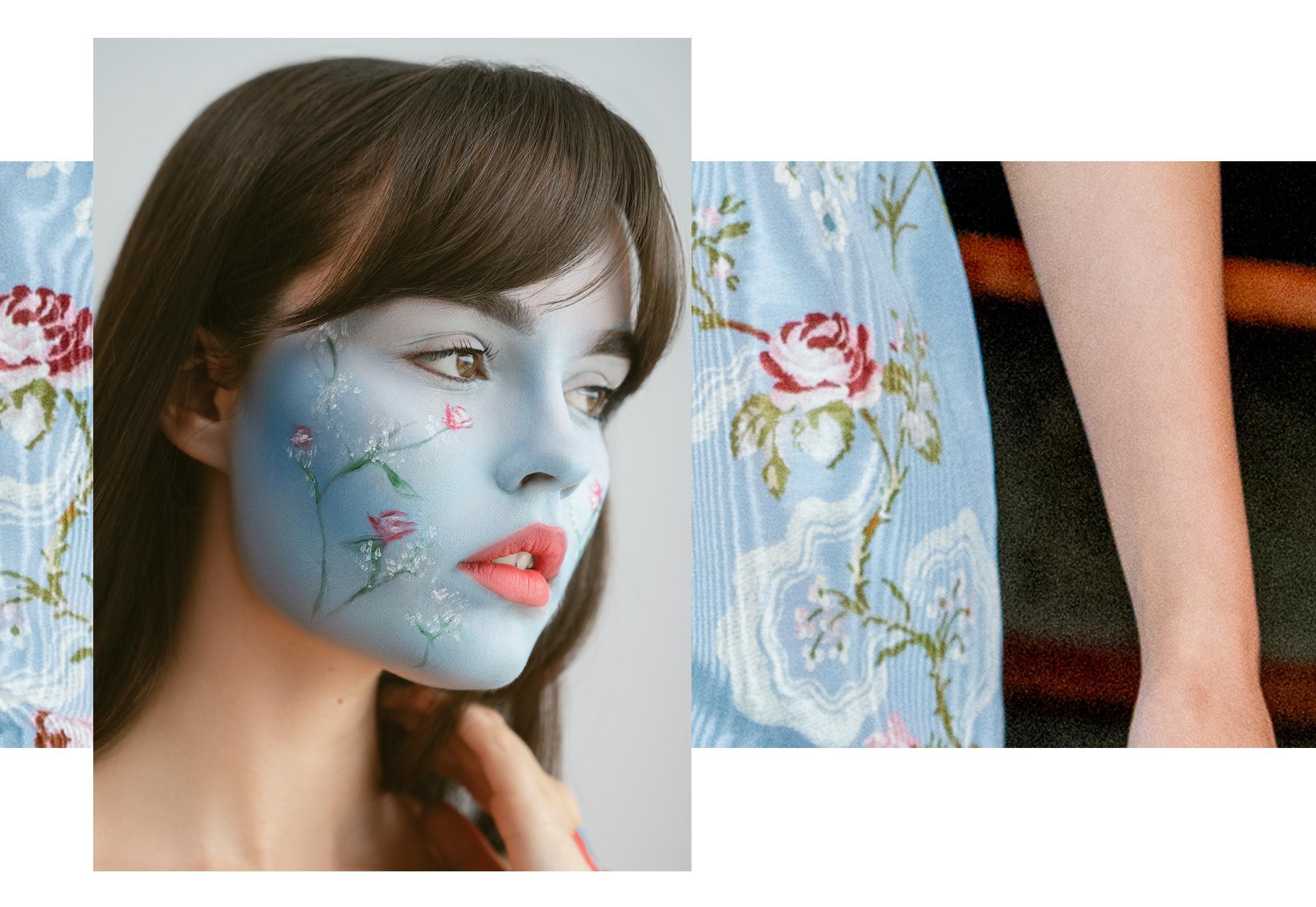 Beauty Spock floral face paint