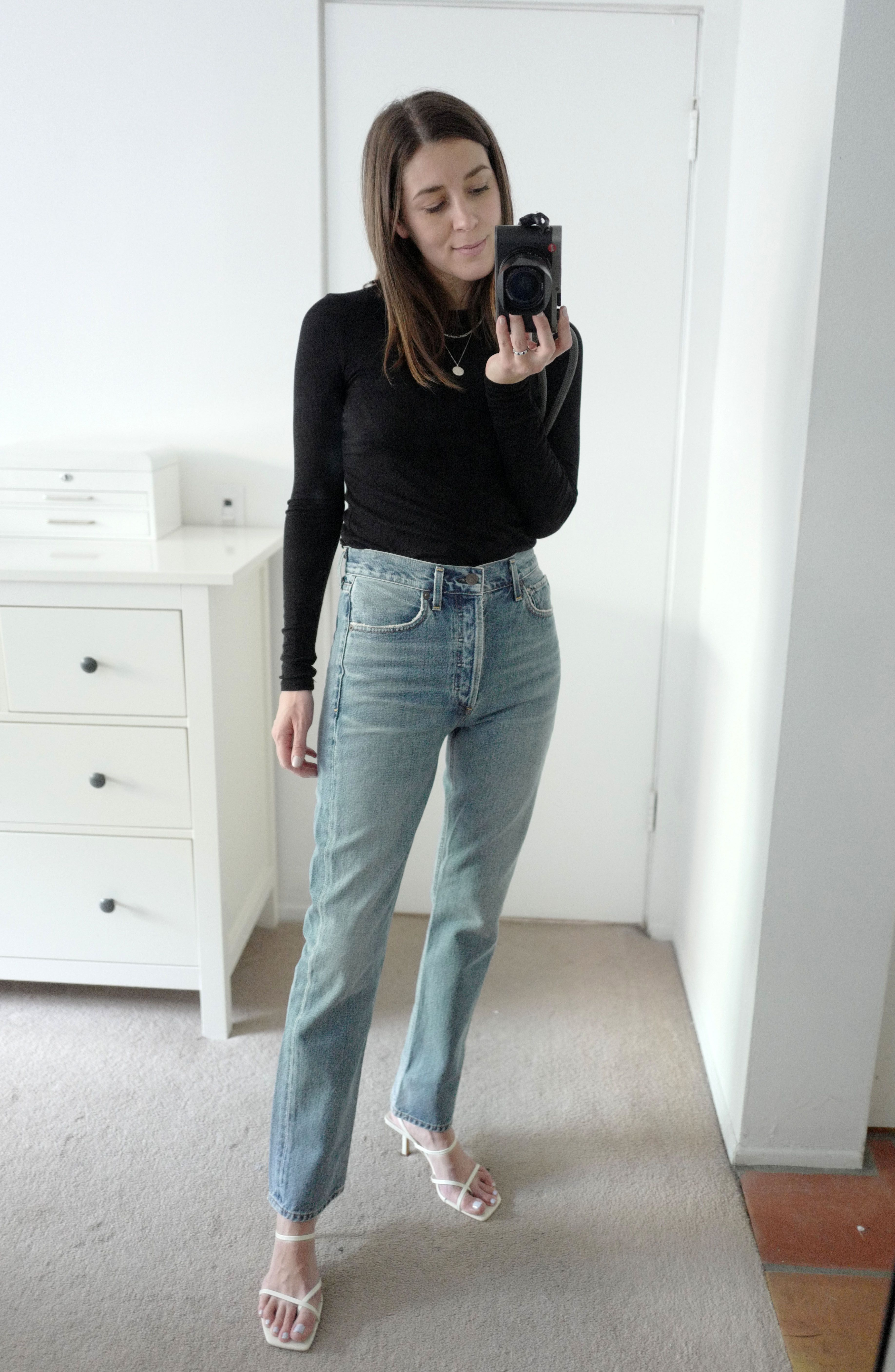 a296633a9d3dc I Tried on 20 Pairs of Straight-Leg Jeans to Find the Best-Fitting |  WhoWhatWear.com | Bloglovin'