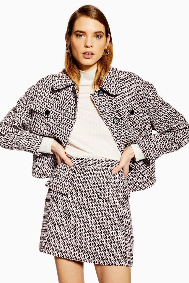 Topshop Textured Boucle Jacket