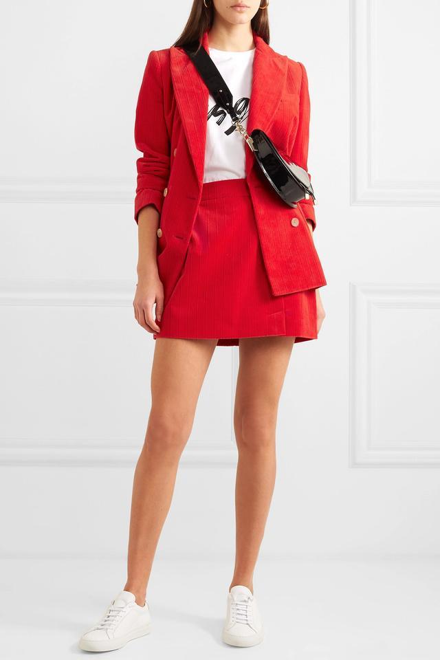 Bella Freud Alexa Cotton-Corduroy Mini Skirt