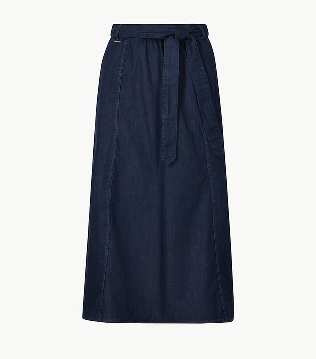 Marks & Spencer Pure Cotton Denim Midi Skirt