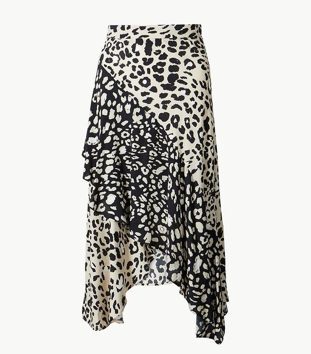 Marks & Spencer Animal Print Wrap Midi Skirt