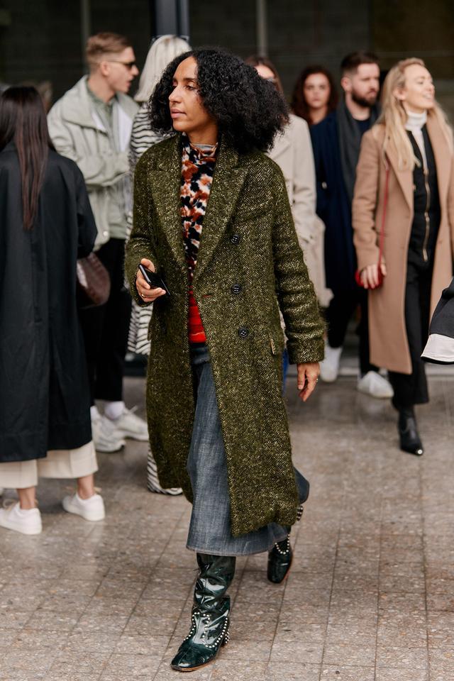 street style shots from London fashion week
