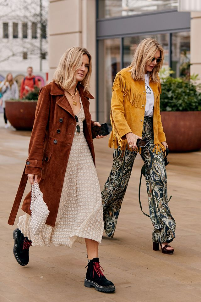 street style shots from LFW