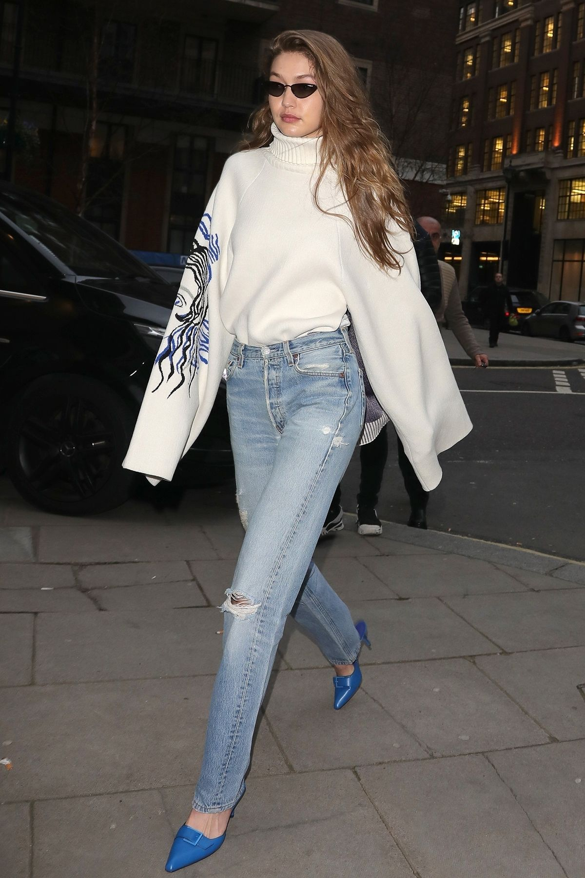 d5326a52761 Gigi Hadid Found the Perfect $49 Heels to Wear With Jeans | WhoWhatWear.com  | Bloglovin'
