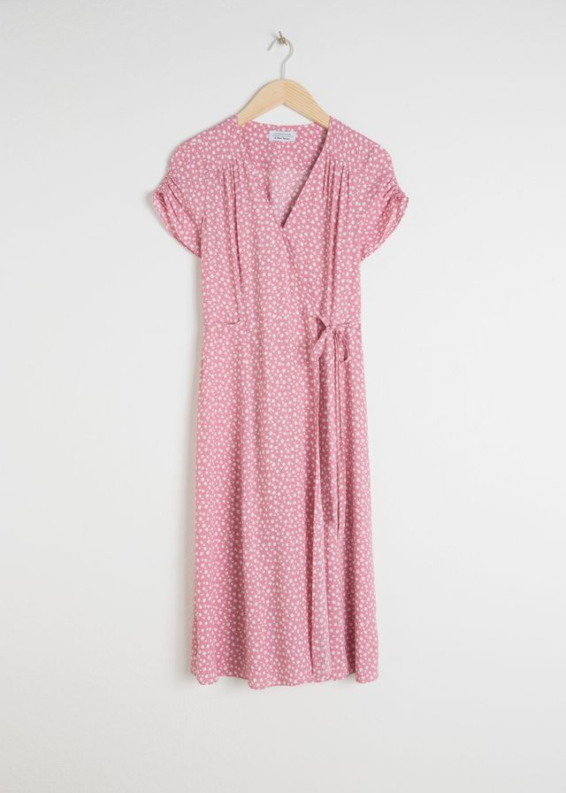 & Other Stories Floral Printed Wrap Dress